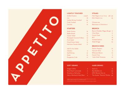 Appetito 03 – Breadsticks typography visual design graphic design