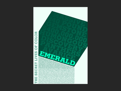 Emerald – The Secret Lives of Color typography visual design graphic design design