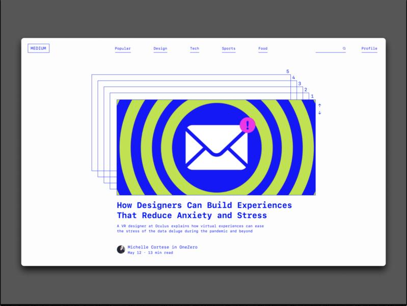 Medium Redesign web ui figma web design visual design typography design graphic design