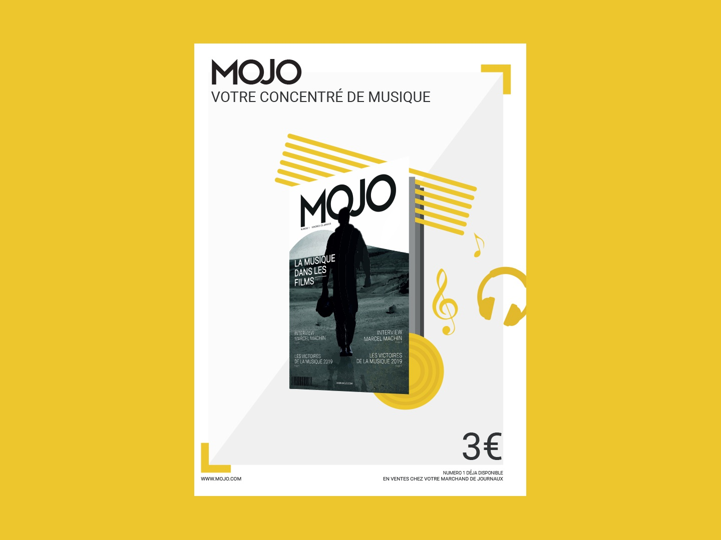 MOJO - Poster communication poster flat branding illustration vecteur vector