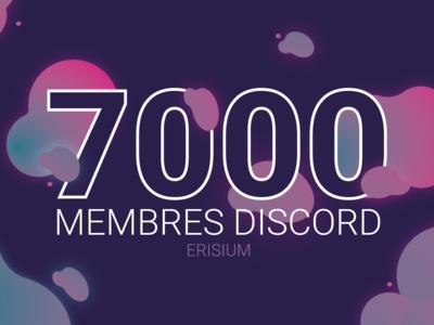 7k discord members - ERISIUM