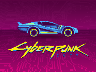 Cyberpunk 2077 Pixel Art