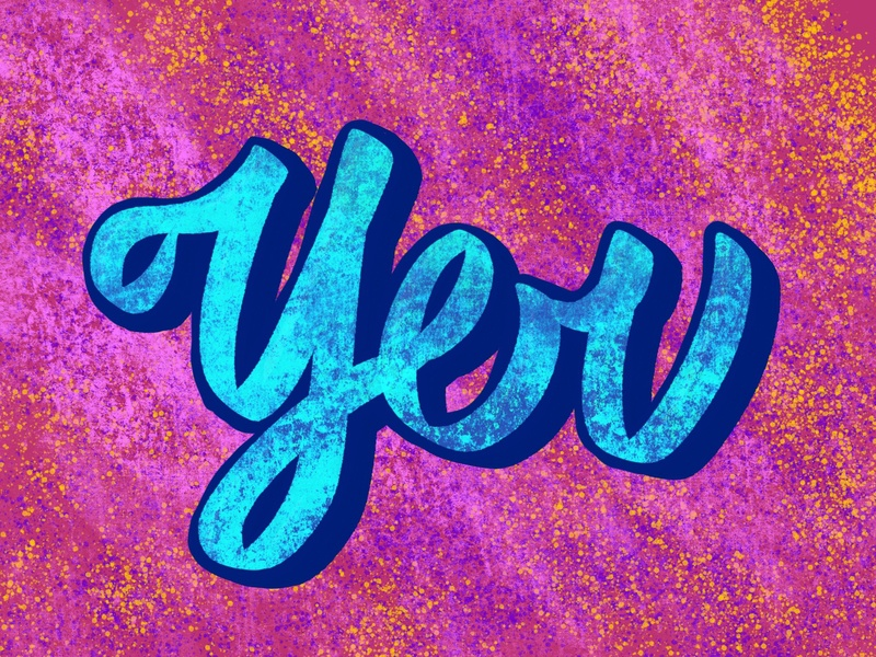 You typography lettering art procreate hand lettering design