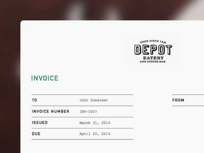 Invoice Template Pecan By Kiran Matthews On Dribbble