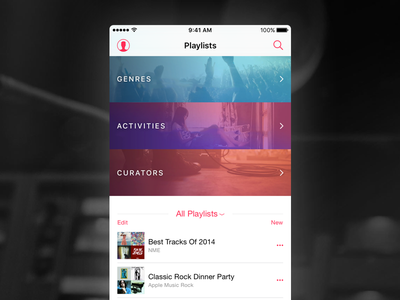 Apple Music - playlists redesign mobile beats itunes music apple