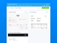 Invoice settings — Xero Document Designer