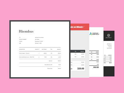 Invoices — Xero Branding Themes templates design invoice