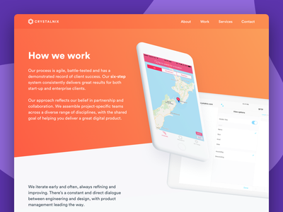 Agency Website - 'Our Process' Page webflow ux ui about us agency web web  design
