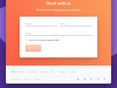 Agency Website - Contact & Footer footer sign up email contact form webflow ux ui  ux design about us page ui agency about us