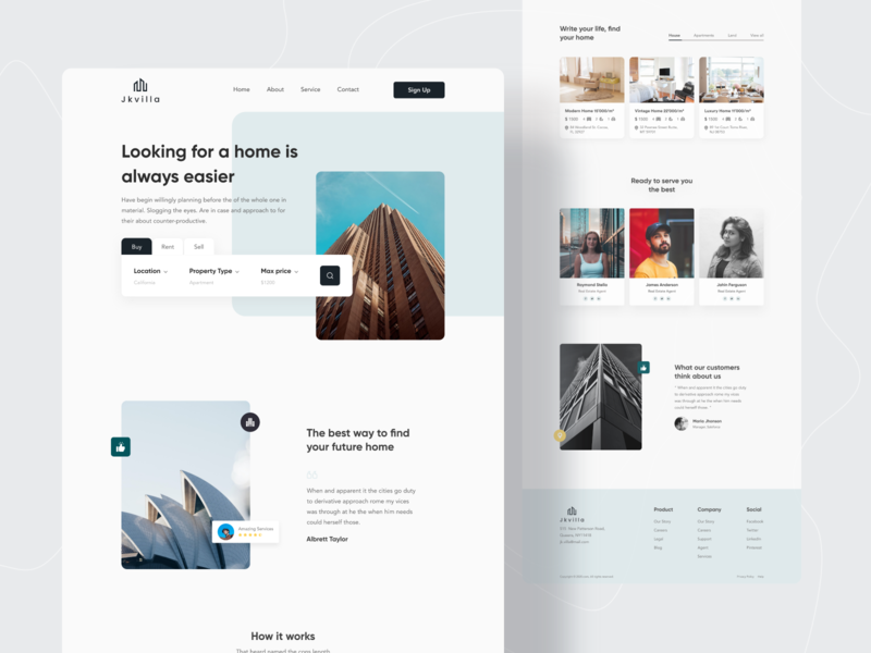 Real Estate Website Exploration V.2 uiux design landing page design realestate uiux real estate agency redesign property website real estate website property real estate website design uidesign webdesign popular shot website concept web design trends dribbble best shot twinkle 2020 trend
