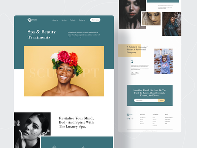 Beauty Salon Landing Page redesign uiux beauty salon landing page design landingpage landing page design beauty salon website parlour beauty salon web deisgn website design uidesign webdesign website concept landing page popular shot web design trends twinkle dribbble best shot 2020 trend