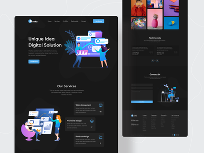 Dark Agency Series - 04 ui design agency landing page digital agency agency website digital agency website agency dark theme 2021 trend dark ui redesign landing page landingpage landing page design webdesign website design website concept web design trends popular shot dribbble best shot
