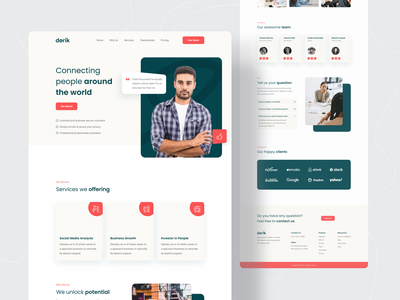Business Consulting Agency Landing Page 🔥🔥 business landing page consulting firm consulting website consulting consultation consultant agency consultancy agency landing page agency website 2021 trend landing page landing page design webdesign website design website concept trends web design popular shot dribbble best shot
