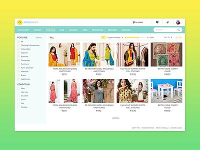Redesign Craigslist Search Result classified advertisement responsive clean design portfolio