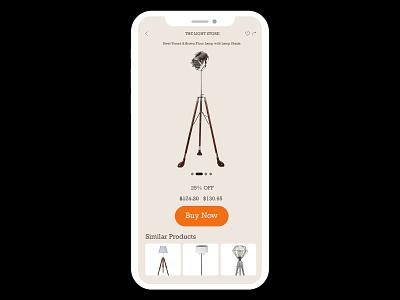 Daily UI Shot #008 buynow uipractice uidesign design portfolio mobileapp mobile clean practice work ecommerce ux ui