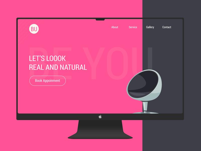Daily UI Shot #012 beyou landing salon clean practice portfolio design ux ui