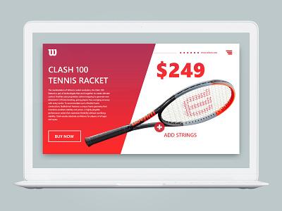 Daily UI Shot #015 clean redesign buynow tennis dailyshot work practice portfolio ui design ux ui