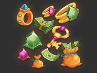 treasure items