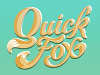 Quick Fox Typography