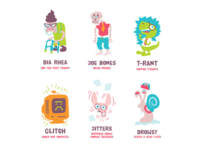 Characters for Java Jaunt Board Game