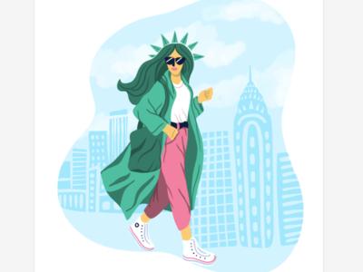NYC brunch spot illustration