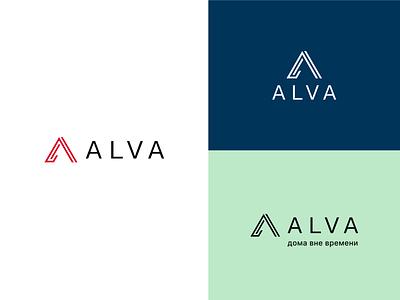 Alva - Construction company icon vector illustration logo branding design