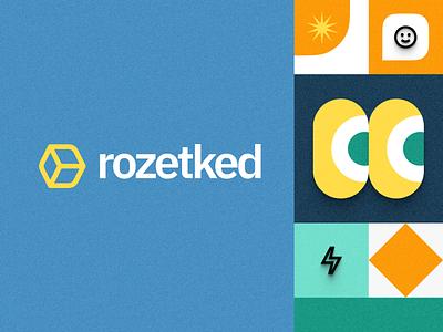 Rozetked – restyling illustration branding logo