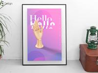 """Poster """"Hello"""" — Sirenix Design 2018"""