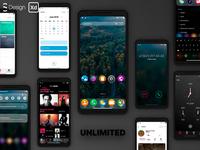 Zero X6 — Mobile UI kit (Adobe XD) — Unlimited Version о