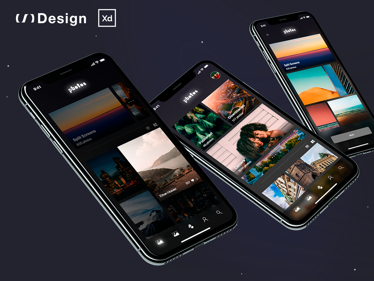 Download MyPhotos (free app concept) — Adobe XD