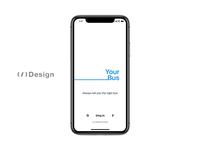 App for tracking buses — animation flat ux animation freebie kit xd ui design