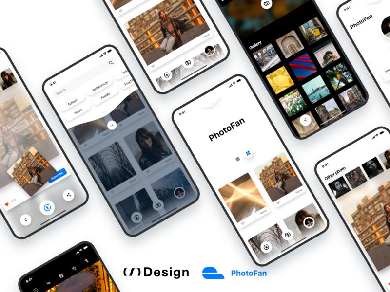 PhotoFan — 2019 version app freebie adobe xd kit ui xd design