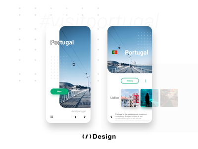 Visit Portugal — Mobile app turism app madewithadobexd adobe xd auto animate animation adobe xd logo ui xd design