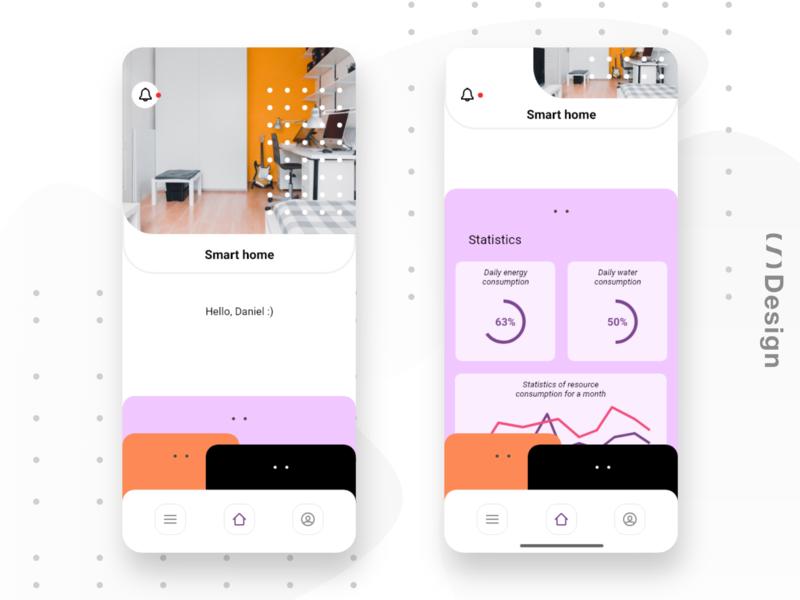 Smart home app mobile mobile app smart home app adobe xd kit ui xd design