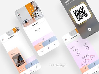 Smart home app - 2nd version branding design xd ui kit adobe xd app smart home mobile app mobile