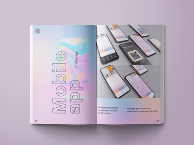 Catalogue 2019 - About mobile app catalogue design catalogue typography illustration adobe xd branding xd design