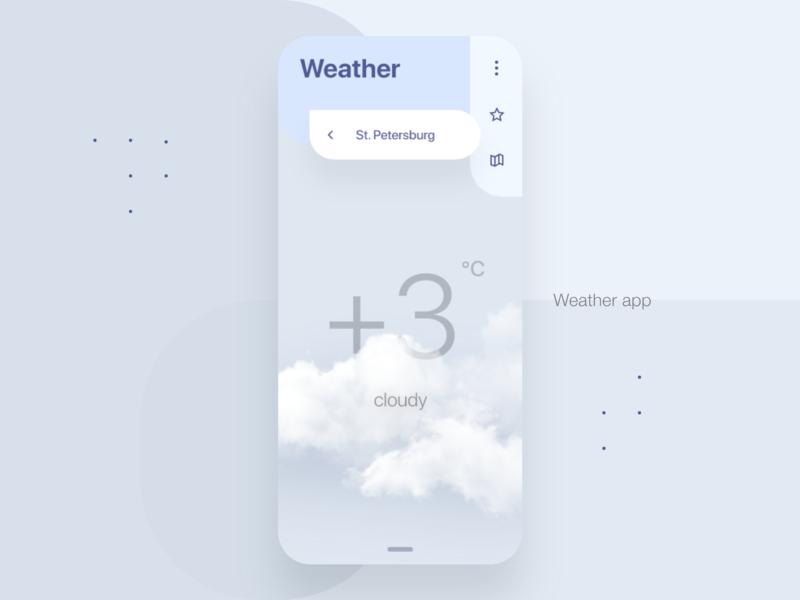Weather - mobile app weather app adobe xd kit ui xd design
