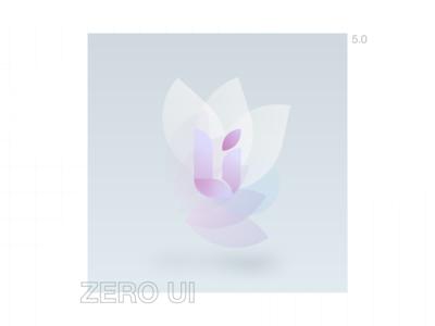 Zero UI 5.0 - style icon illustration logo branding kit ui adobe xd xd design