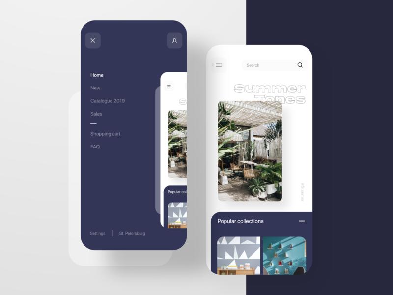 Furniture shop - mobile app ios minimal mobile app app adobe xd ui xd design