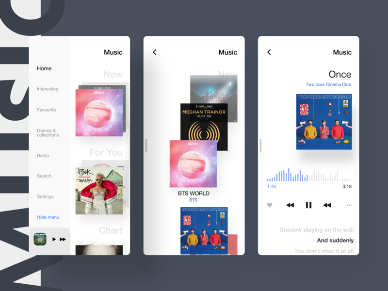 Music app invision design kit app mobile mobile app ui music app mobile design