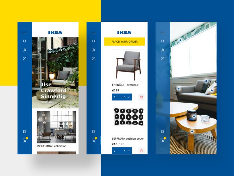 IKEA mobile app mobile ikea mobile design mobile app mobile ui app kit adobe xd ui xd design