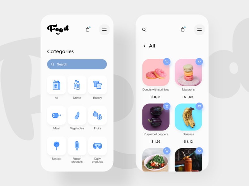 Food delivery app mobile design mobile ui mobile mobile app app kit adobe xd ui xd design