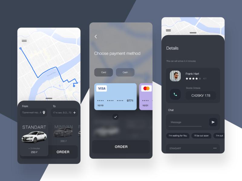 Taxi app mobile app design kit mobile design mobile ui taxi app mobile app app adobe xd ui xd design