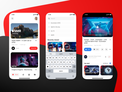 YouTube redesign youtube minimal figma mobile ui mobile design mobile app mobile app design
