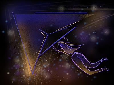 Fly illustrator ux ui graphic character art mobile vector design illustraion