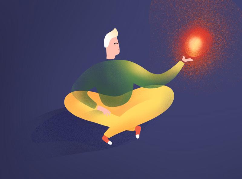 Light procreate vector design illustration art illustraion illustrations art