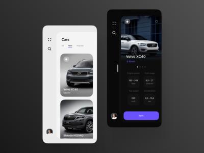 Carsharing app mobile ui figma mobile mobile app ui design carsharing