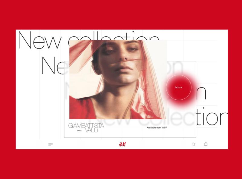H&M home page figma desktop design website web design web ui
