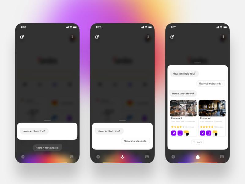 Yandex - Voice assistant Alice figma yandex figmadesign mobile mobile app app ui design