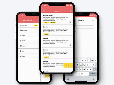 Mail App - Conceptual Design userinterface ux design ux uiinspirations ui  ux prototype design ui design app design app